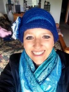 A New Blue Hat From My Friend, Cyndi!